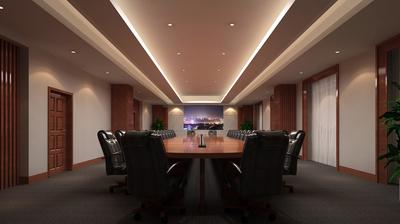 2015豪华大型会议室装修效果图