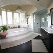 118平米清爽系列洗手间装修效果图