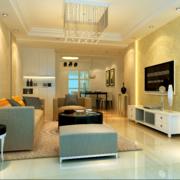 欧式唯美的现代小户型室内装修效果图