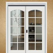 大户型自然风格磨砂玻璃门图片