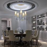 大户型欧式简约风格圆形餐厅吊顶装饰