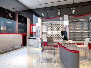 都市摩登小型眼镜店装修效果图