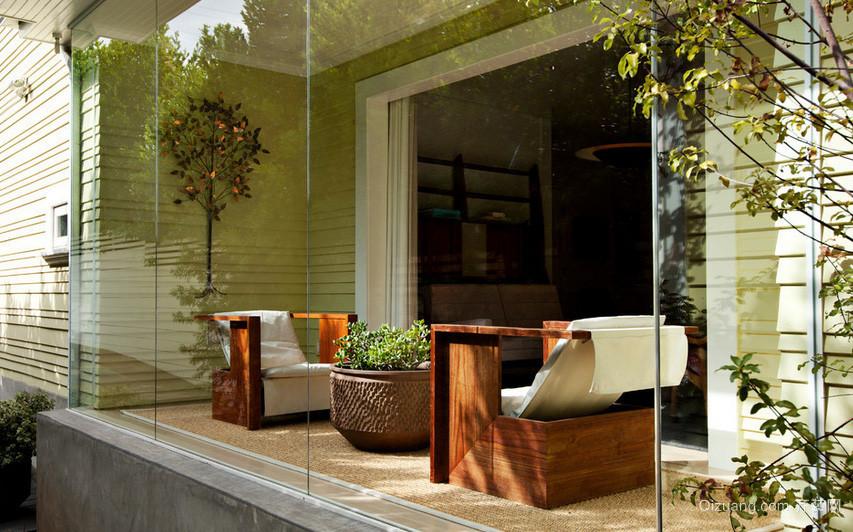 别墅精心设计落地隔音玻璃窗装修效果图