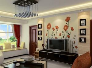 极具现代化跃层电视背景墙装饰效果图