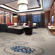 120平米独特造型地毯效果图片