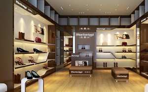 繁华地段潮流鞋店装修效果图