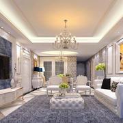 80平米欧式奢华精致客厅装修效果图