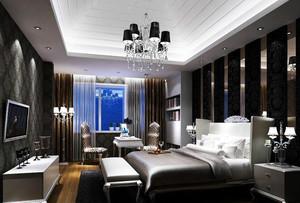 后现代别墅大卧室装修效果图