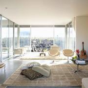 别墅大型落地隔音玻璃窗装修效果图