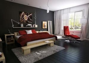 后现代单身公寓卧室装修效果图