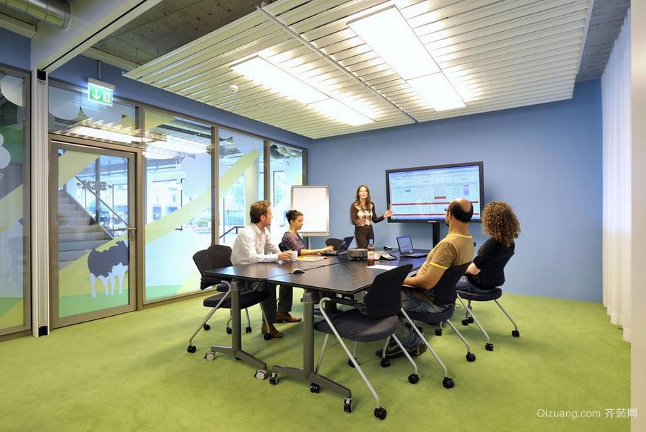 美式大企业办公会议室装修效果图