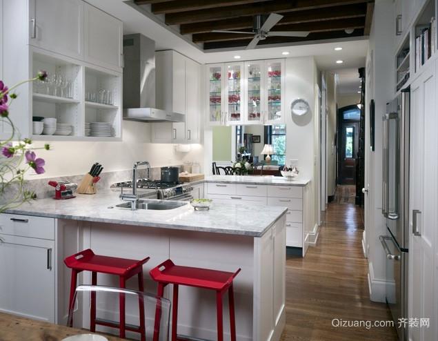 30平米欧式田园风格别墅厨房装修效果图