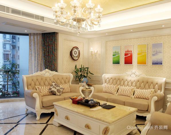 精致小洋楼简欧风格客厅装修效果图
