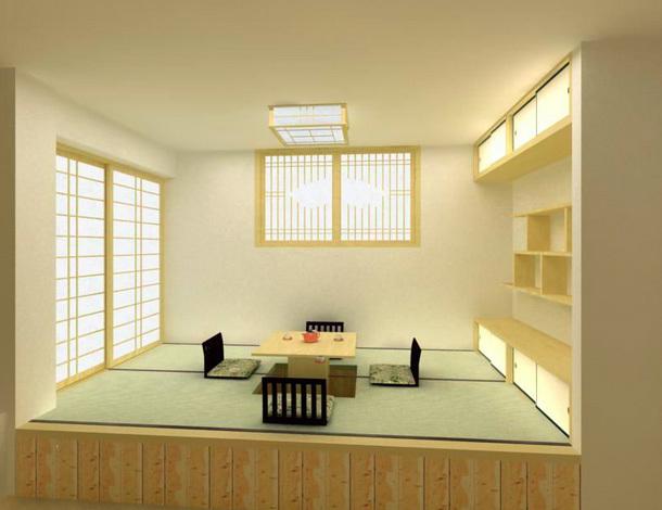 两室一厅日式清新风格榻榻米装修效果图