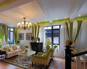 100平米美式简约风格客厅装修效果图