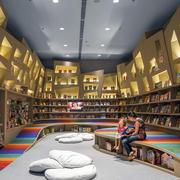 自然风格书店装修图片