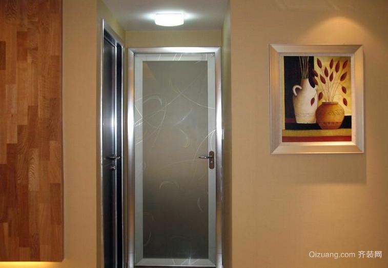 大户型深色调磨砂玻璃门图片