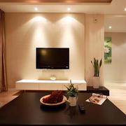 80平米后现代风格客厅硅藻泥电视背景墙装饰
