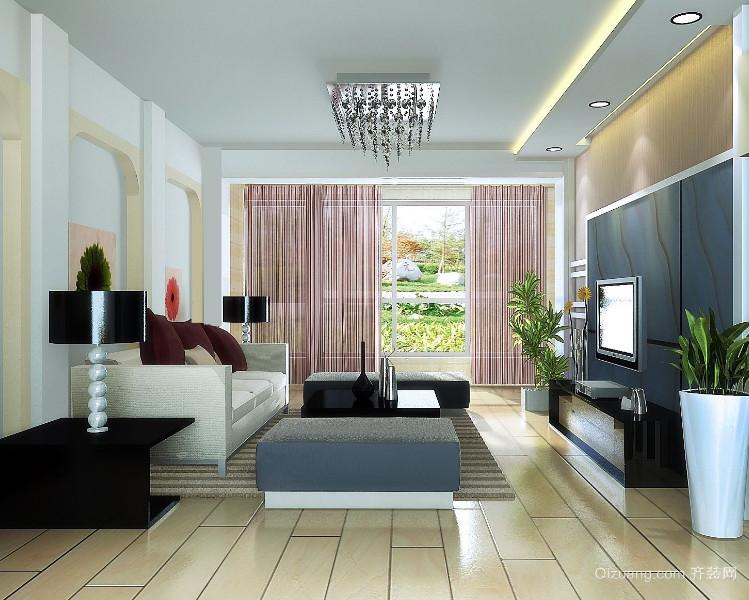 现代小户型欧式客厅背景墙装修效果图