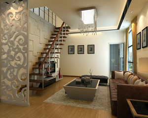 现代简约风格阁楼楼梯装修效果图