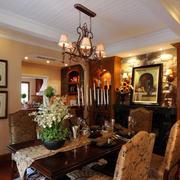 美式简约风格餐厅样板房装饰