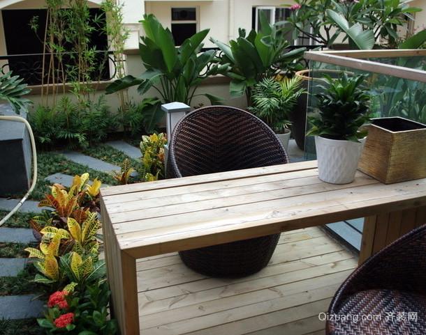 现代简约风格原木系入户花园装修效果图