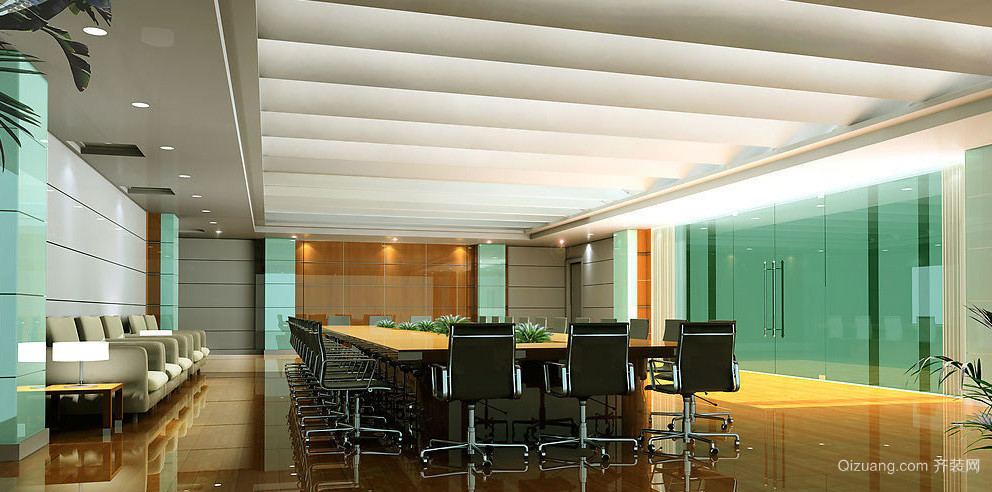 会议室很有氛围背景墙装修效果图