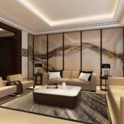唯美精致的大户型中式客厅装修效果图