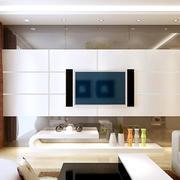 三居室浪漫型影视墙装修效果图大全