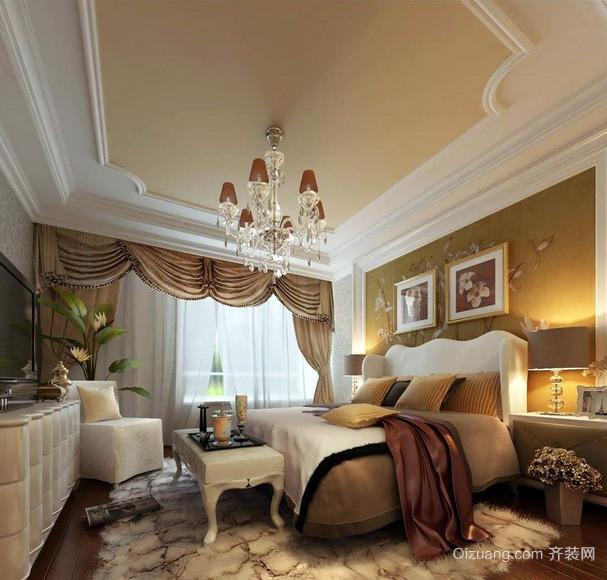简欧风格大户型奢华卧室装修效果图