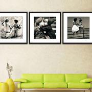 大户型特点鲜明现代黑白装饰画效果图片