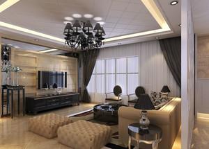 120平米简欧风格大户型客厅装修效果图