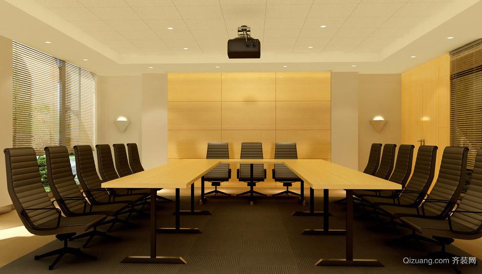 会议室自然风格背景墙装修效果图