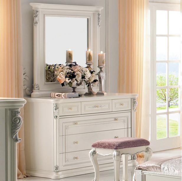 女生公寓卧室欧式梳妆台装修效果图片