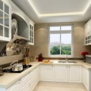现代大户型欧式厨房设计装修效果图