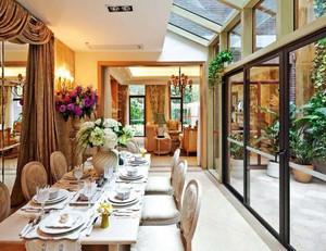 大型别墅美式简约风格阳光房装修效果图
