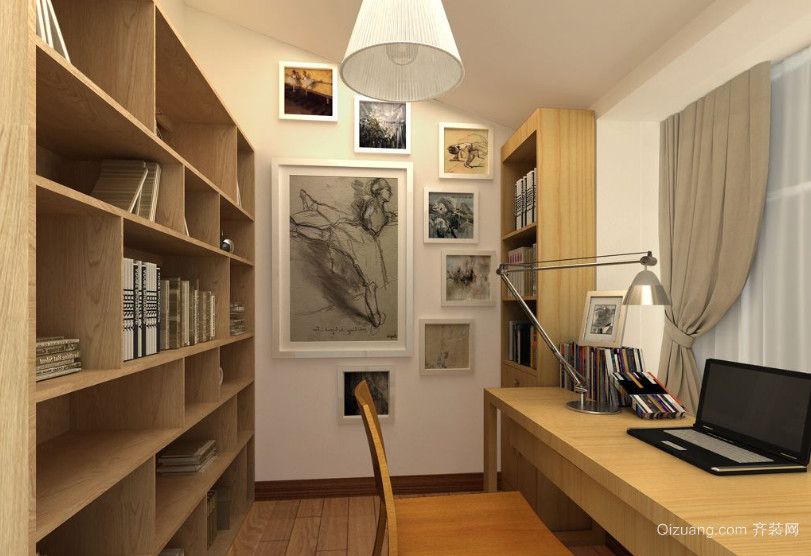 现代精致小户型小书房装修效果图鉴赏