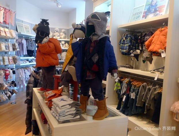 80平米现代简约风格儿童服装店装修效果图