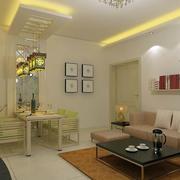 欧式风格两房一厅户型装修效果图