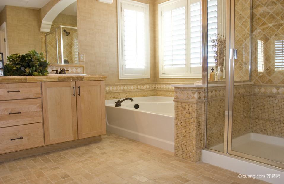 精湛细节型欧式复式楼浴室装修设计效果图