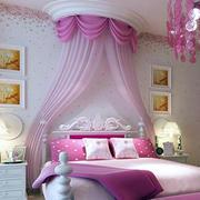 欧式粉色系公主系儿童房装修效果图