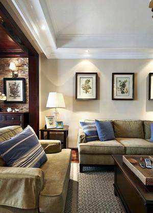轻快风格两房一厅户型装修效果图
