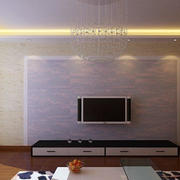 小型简约风格公寓客厅电视背景墙装饰图
