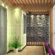 日式简约风格大户型入户花园装修效果图