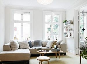 白色系美式样板房客厅装饰