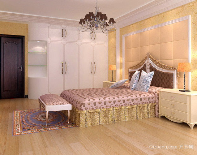 复式楼欧式奢华风格卧室装修效果图