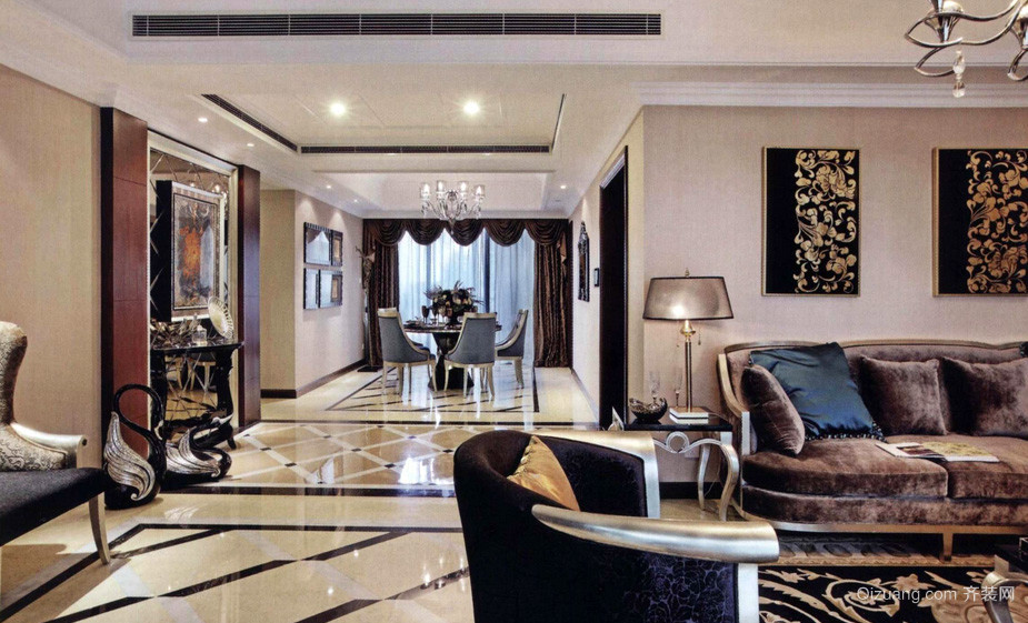 暖色调私人别墅设计装修效果图