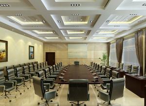 大型会议室背景墙装修效果图