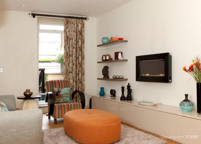 现代欧式小户型客厅装修效果图鉴赏