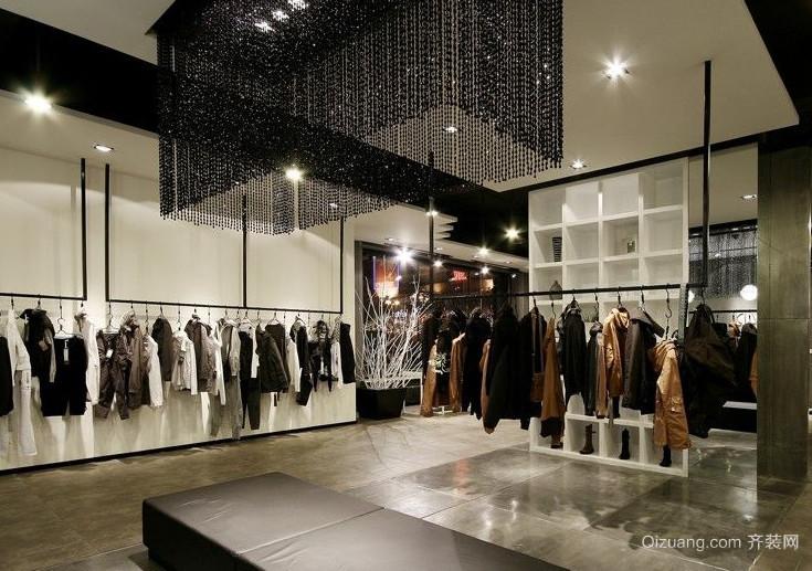 都市精致的现代服装店装修效果图